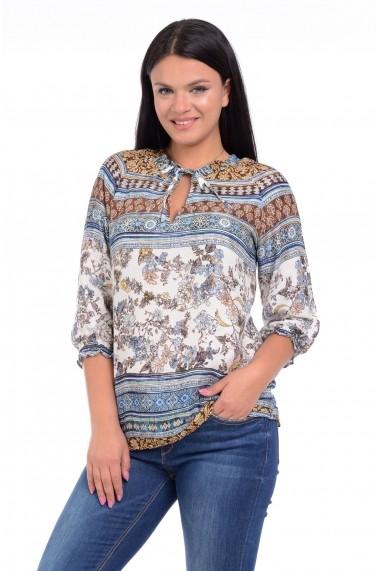 Bluza imprimeu combinat V142 Eranthe Multicolor