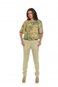 Pantaloni drepti fin in Eranthe IN1 Bej