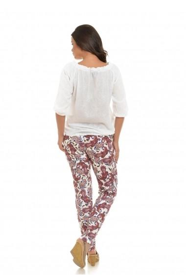 Pantaloni imprimeu paisley Eranthe D03 Multicolori