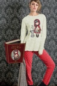 Pijama fete Santoro Gorjuss Little Red Riding Hood lunga