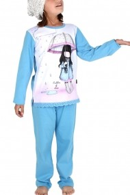 Pijama fete Santoro Gorjuss Puddle of Love lunga