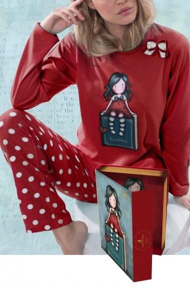 Pijama fete in cutie tip carte Santoro Gorjuss My story lunga