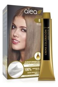 Vopsea de par cu ulei de argan Blond Deschis 8 Alea Color kit 155 gr