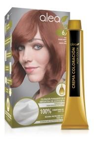 Vopsea de par cu ulei de argan Blond Inchis Aramiu 6,4 Alea Color kit 155 gr