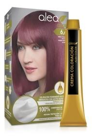 Vopsea de par cu ulei de argan Blond Inchis Rosiatic 6,6 Alea Color kit 155 gr