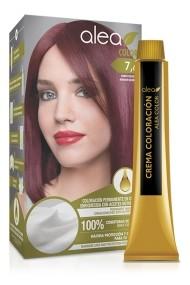 Vopsea de par cu ulei de argan Blond Rosiatic 7,6 Alea Color kit 155 gr