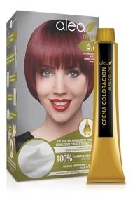 Vopsea de par cu ulei de argan Castaniu Deschis Rosiatic 5,6 Alea Color kit 155 gr