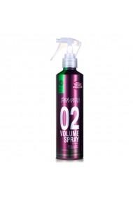 Lotiune spray anti-termica pentru coafat cu volum si neutralizare reflexe galbene Volume Spray 02 Proline 250ml