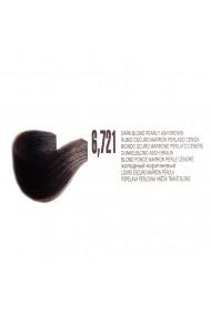 Vopsea de par organica permanenta Biokera Natura 6,721 Blond Inchis Maro Perlat Cenusiu 70ml