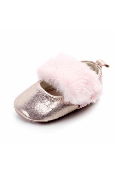 Pantofiori sidefati cu pufulet