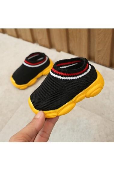 Mocasini negri tip adidas