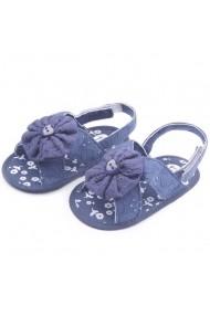 Sandalute fetite brodate bleumarine
