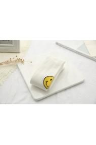 Dres alb din bumbac - Smiley