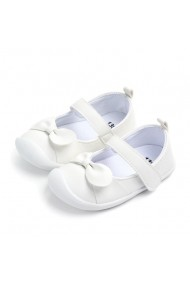 Pantofi fetite albi cu fundita