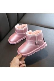 Cizme pentru fetite roz sidefat