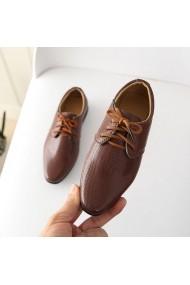 Pantofi eleganti maro pentru baietei