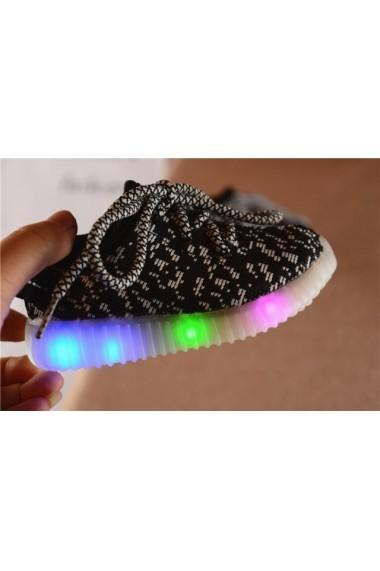 Adidasi negri in degrade cu luminite