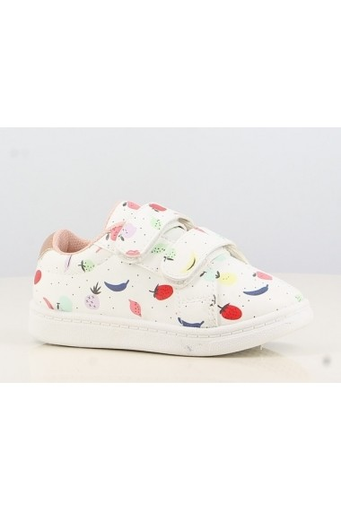 Pantofi sport albi - Colourful fruits