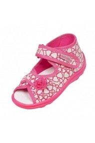 Sandalute fetite gri cu inimioare