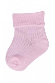 Ciorapei roz deschis pentru bebelusi cu banda de elastic lejera