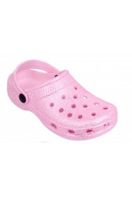 Papuci din cauciuc pentru fetite - Roz sclipitori