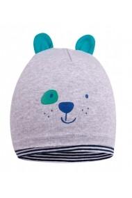 Caciula tip fes pentru bebelusi - Smiley Grey Dog