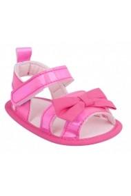 Sandalute roz sidefate cu fundita