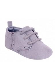 Pantofi gri pentru bebelusi
