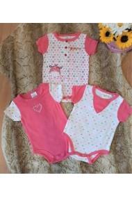 Set de 3 body pentru bebelusi - Giraffe