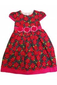 Rochie fete - Elegant red flower