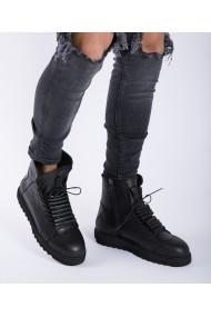 Ghete Bigiottos Shoes din piele naturala imblanite negre
