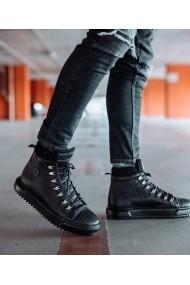 Ghete Bigiottos Shoes piele naturala Next Level negre