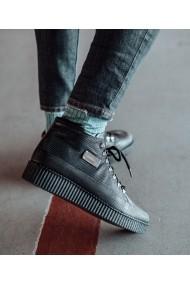Ghete Bigiottos Shoes piele naturala Gulio negre