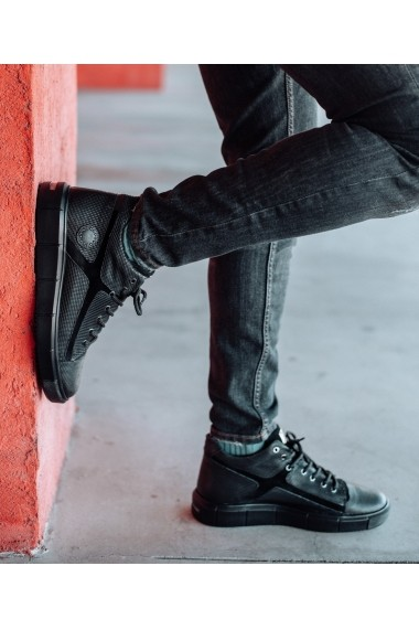 Ghete Bigiottos Shoes piele naturala Xboots negre