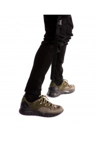 Sneakers Bigiottos Shoes din piele naturala verde