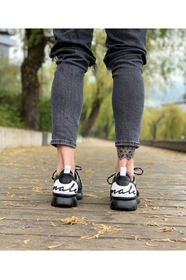 Sneakers Bigiottos Shoes din piele naturala negri