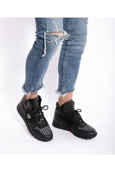 Pantofi sport Bigiottos Shoes Rock Star Black negri