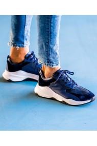 Sneakers Bigiottos Shoes piele naturala Day Raver albastri