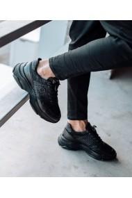 Sneakers Bigiottos Shoes piele naturala Chunky Office negri