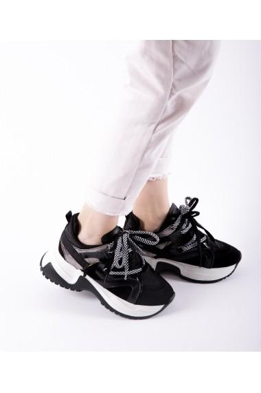 Pantofi sport Bigiottos Shoes Manhattan negri