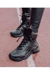 Sneakers Bigiottos Shoes piele naturala Swag Alarm negri