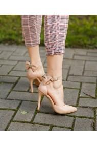 Pantofi cu toc Bigiottos Shoes cu fundita nude