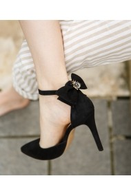 Pantofi cu toc Bigiottos Shoes cu fundita negri
