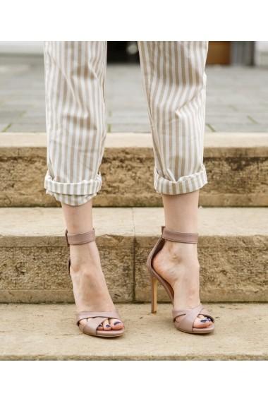 Sandele cu toc Bigiottos Shoes Paris nude