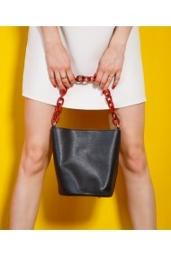 Geanta casual Bigiottos Shoes Chained Bag neagra