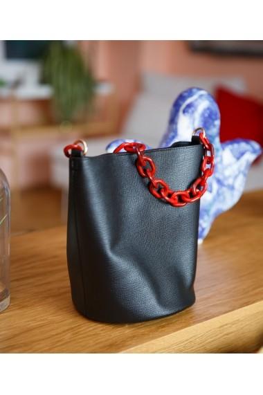 Geanta casual Bigiottos Shoes Chained Bag neagra