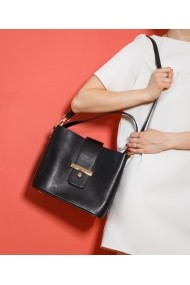 Geanta casual Bigiottos Shoes Black Stardust Bag neagra