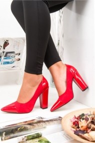 Pantofi cu toc AWON 5392KIS rosu