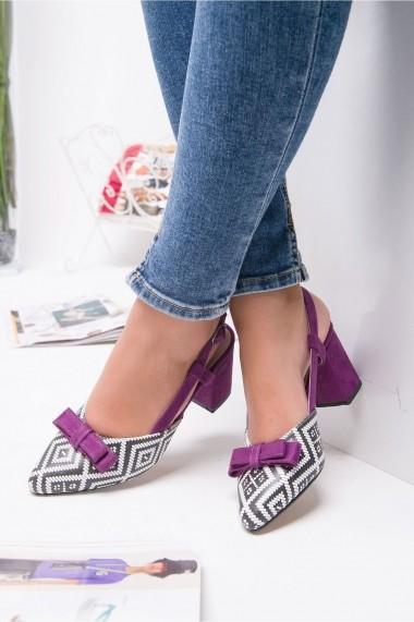 Pantofi cu toc AWON 5218MO bordo