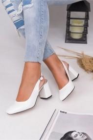 Pantofi cu toc AWON 5319BYR alb